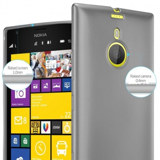 Cadorabo Hülle für Nokia Lumia 1520 in METALLIC GRAU - Handyhülle aus flexiblem TPU Silikon - Silikonhülle Schutzhülle Ultra Slim Soft Back Cover Case Bumper - Vorschau 4