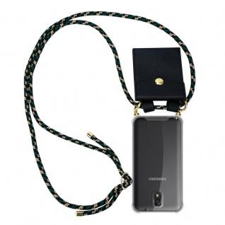 Cadorabo Handy Kette für Samsung Galaxy NOTE 3 in CAMOUFLAGE ? Silikon Necklace Umhänge Hülle mit Gold Ringen, Kordel Band Schnur und abnehmbarem Etui ? Schutzhülle