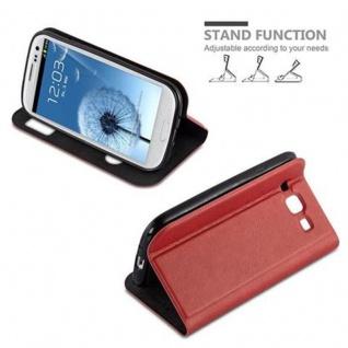 Cadorabo Hülle für Samsung Galaxy S3 / S3 NEO in SAFRAN ROT ? Handyhülle mit Magnetverschluss, Standfunktion und 2 Sichtfenstern ? Case Cover Schutzhülle Etui Tasche Book Klapp Style - Vorschau 4