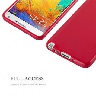 Cadorabo Hülle für Samsung Galaxy NOTE 3 in JELLY ROT ? Handyhülle aus flexiblem TPU Silikon ? Silikonhülle Schutzhülle Ultra Slim Soft Back Cover Case Bumper - Vorschau 4