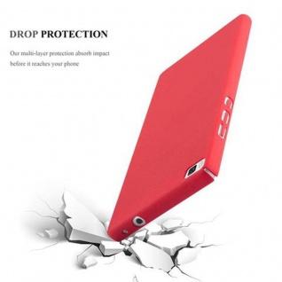 Cadorabo Hülle für Huawei P8 in FROSTY ROT - Hardcase Handyhülle aus Plastik gegen Kratzer und Stöße - Schutzhülle Bumper Ultra Slim Back Case Hard Cover - Vorschau 4