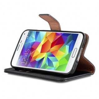 Cadorabo Hülle für Samsung Galaxy S5 / S5 NEO in GRAPHIT SCHWARZ ? Handyhülle mit Magnetverschluss, Standfunktion und Kartenfach ? Case Cover Schutzhülle Etui Tasche Book Klapp Style - Vorschau 5