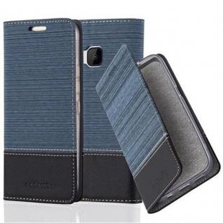 Cadorabo Hülle für HTC ONE M9 in DUNKEL BLAU SCHWARZ - Handyhülle mit Magnetverschluss, Standfunktion und Kartenfach - Case Cover Schutzhülle Etui Tasche Book Klapp Style