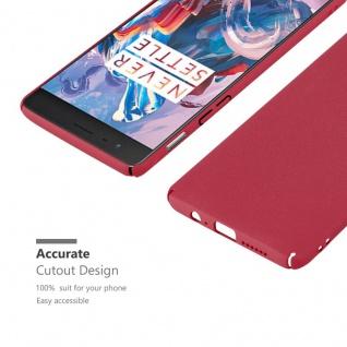 Cadorabo Hülle für OnePlus 3 / 3T in FROSTY ROT - Hardcase Handyhülle aus Plastik gegen Kratzer und Stöße - Schutzhülle Bumper Ultra Slim Back Case Hard Cover - Vorschau 5