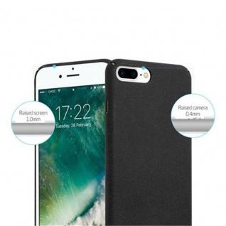 Cadorabo Hülle für Apple iPhone 8 PLUS / iPhone 7 PLUS / iPhone 7S PLUS in FROSTY SCHWARZ - Hardcase Handyhülle aus Plastik gegen Kratzer und Stöße - Schutzhülle Bumper Ultra Slim Back Case Hard Cover - Vorschau 3