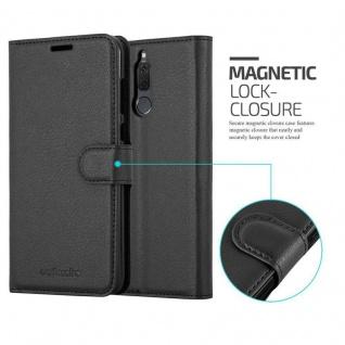 Cadorabo Hülle für Huawei MATE 10 LITE in PHANTOM SCHWARZ - Handyhülle mit Magnetverschluss, Standfunktion und Kartenfach - Case Cover Schutzhülle Etui Tasche Book Klapp Style - Vorschau 2