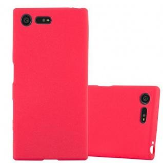 Cadorabo Hülle für Sony Xperia X Compact in FROST ROT - Handyhülle aus flexiblem TPU Silikon - Silikonhülle Schutzhülle Ultra Slim Soft Back Cover Case Bumper
