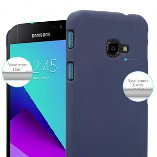 Cadorabo Hülle für Samsung Galaxy XCover 4 in FROSTY BLAU - Hardcase Handyhülle aus Plastik gegen Kratzer und Stöße - Schutzhülle Bumper Ultra Slim Back Case Hard Cover - Vorschau 4