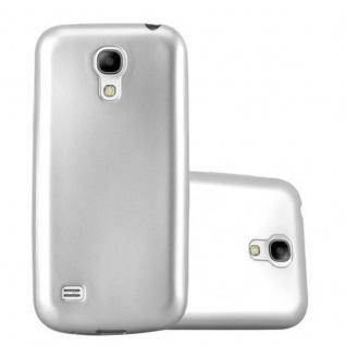 Cadorabo Hülle für Samsung Galaxy S4 MINI in METALLIC SILBER - Handyhülle aus flexiblem TPU Silikon - Silikonhülle Schutzhülle Ultra Slim Soft Back Cover Case Bumper