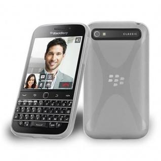Cadorabo Hülle für Blackberry Q20 - Hülle in HALB TRANSPARENT ? Handyhülle aus flexiblem TPU Silikon im X-Line Design - Ultra Slim Soft Backcover Case Bumper