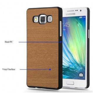 Cadorabo Hülle für Samsung Galaxy A3 2015 in WOODY BRAUN - Hardcase Handyhülle aus Plastik gegen Kratzer und Stöße - Schutzhülle Bumper Ultra Slim Back Case Hard Cover - Vorschau 5