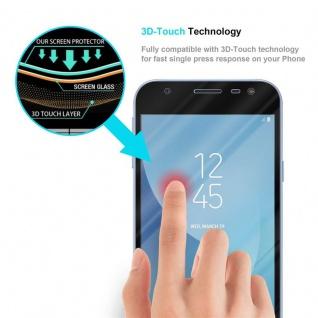 Cadorabo Vollbild Panzer Folie für Samsung Galaxy J3 PRO - Schutzfolie in TRANSPARENT mit SCHWARZ - Gehärtetes (Tempered) Display-Schutzglas in 9H Härte mit 3D Touch Kompatibilität - Vorschau 5