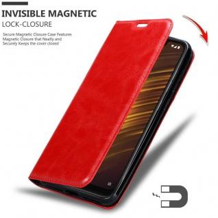 Cadorabo Hülle für Xiaomi Pocophone F1 in APFEL ROT Handyhülle mit Magnetverschluss, Standfunktion und Kartenfach Case Cover Schutzhülle Etui Tasche Book Klapp Style - Vorschau 3