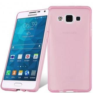 Cadorabo Hülle für Samsung Galaxy A5 2015 in TRANSPARENT PINK - Handyhülle aus flexiblem TPU Silikon - Silikonhülle Schutzhülle Ultra Slim Soft Back Cover Case Bumper