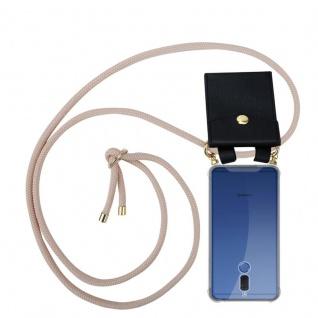 Cadorabo Handy Kette für Huawei MATE 10 LITE in PERLIG ROSÉGOLD - Silikon Necklace Umhänge Hülle mit Gold Ringen, Kordel Band Schnur und abnehmbarem Etui ? Schutzhülle