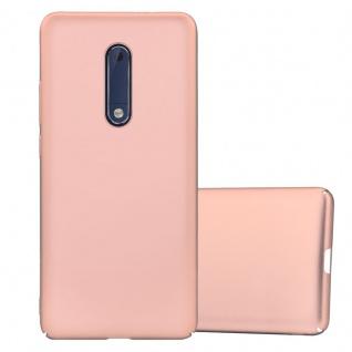 Cadorabo Hülle für Nokia 5 2017 in METALL ROSÉ GOLD Hardcase Handyhülle aus Plastik gegen Kratzer und Stöße Schutzhülle Bumper Ultra Slim Back Case Hard Cover