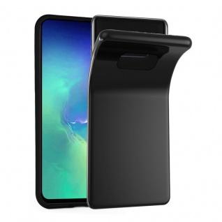 Cadorabo Hülle für Samsung Galaxy S10e in SCHWARZ - Handyhülle aus flexiblem TPU Silikon - Silikonhülle Schutzhülle Ultra Slim Soft Back Cover Case Bumper