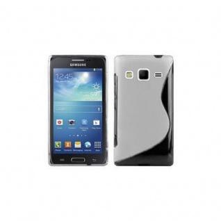 Cadorabo Hülle für Samsung Galaxy EXPRESS 2 in MAGNESIUM WEIß - Handyhülle aus flexiblem TPU Silikon - Silikonhülle Schutzhülle Ultra Slim Soft Back Cover Case Bumper