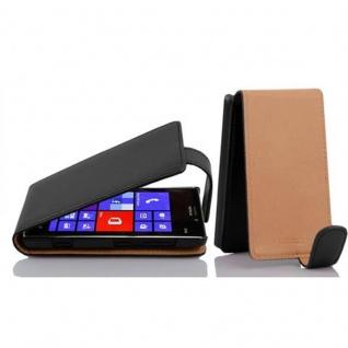 Cadorabo Hülle für Nokia Lumia 925 in OXID SCHWARZ Handyhülle im Flip Design aus strukturiertem Kunstleder Case Cover Schutzhülle Etui Tasche Book Klapp Style