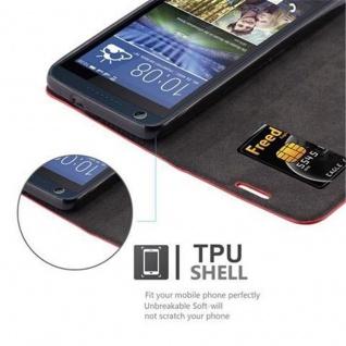 Cadorabo Hülle für HTC DESIRE 626G in APFEL ROT Handyhülle mit Magnetverschluss, Standfunktion und Kartenfach Case Cover Schutzhülle Etui Tasche Book Klapp Style - Vorschau 2