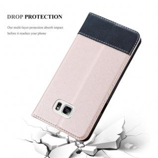 Cadorabo Hülle für Samsung Galaxy NOTE 5 in ROSÉ GOLD SCHWARZ ? Handyhülle mit Magnetverschluss, Standfunktion und Kartenfach ? Case Cover Schutzhülle Etui Tasche Book Klapp Style - Vorschau 5