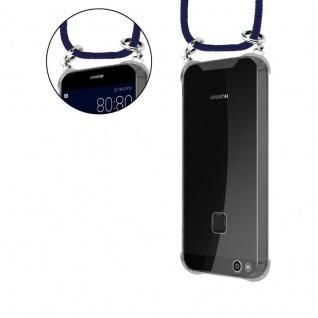 Cadorabo Handy Kette für Huawei P10 in TIEF BLAU - Silikon Necklace Umhänge Hülle mit Silber Ringen, Kordel Band Schnur und abnehmbarem Etui - Schutzhülle - Vorschau 5