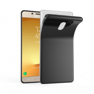 Cadorabo Hülle für Samsung Galaxy J5 2017 in SCHWARZ - Handyhülle aus flexiblem TPU Silikon - Silikonhülle Schutzhülle Ultra Slim Soft Back Cover Case Bumper
