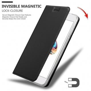 Cadorabo Hülle für Xiaomi Mi A1 / 5X in CLASSY SCHWARZ - Handyhülle mit Magnetverschluss, Standfunktion und Kartenfach - Case Cover Schutzhülle Etui Tasche Book Klapp Style - Vorschau 3