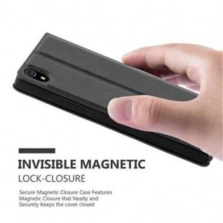 Cadorabo Hülle für Huawei P7 in KOMETEN SCHWARZ ? Handyhülle mit Magnetverschluss, Standfunktion und 2 Sichtfenstern ? Case Cover Schutzhülle Etui Tasche Book Klapp Style - Vorschau 5