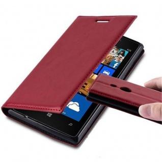 Cadorabo Hülle für Nokia Lumia 925 in APFEL ROT - Handyhülle mit Magnetverschluss, Standfunktion und Kartenfach - Case Cover Schutzhülle Etui Tasche Book Klapp Style