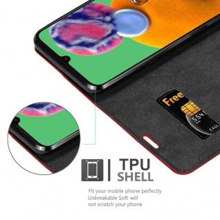 Cadorabo Hülle für Samsung Galaxy A90 5G in APFEL ROT - Handyhülle mit Magnetverschluss, Standfunktion und Kartenfach - Case Cover Schutzhülle Etui Tasche Book Klapp Style - Vorschau 4
