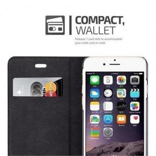 Cadorabo Hülle für Apple iPhone 6 / iPhone 6S in NACHT SCHWARZ - Handyhülle mit Magnetverschluss, Standfunktion und Kartenfach - Case Cover Schutzhülle Etui Tasche Book Klapp Style - Vorschau 3