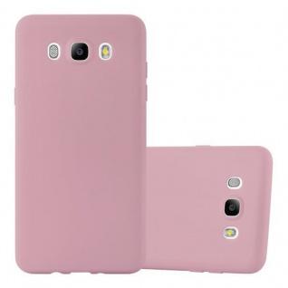 Cadorabo Hülle für Samsung Galaxy J7 2016 in CANDY ROSA - Handyhülle aus flexiblem TPU Silikon - Silikonhülle Schutzhülle Ultra Slim Soft Back Cover Case Bumper