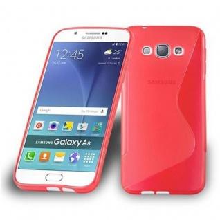 Cadorabo Hülle für Samsung Galaxy A8 2015 in INFERNO ROT - Handyhülle aus flexiblem TPU Silikon - Silikonhülle Schutzhülle Ultra Slim Soft Back Cover Case Bumper