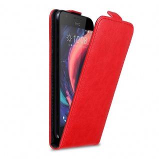 Cadorabo Hülle für HTC Desire 10 Lifestyle / Desire 825 in APFEL ROT Handyhülle im Flip Design mit Magnetverschluss Case Cover Schutzhülle Etui Tasche Book Klapp Style