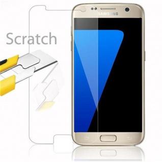 Cadorabo Panzer Folie für Samsung Galaxy S7 - Schutzfolie in KRISTALL KLAR - Gehärtetes (Tempered) Display-Schutzglas in 9H Härte mit 3D Touch Kompatibilität - Vorschau 2