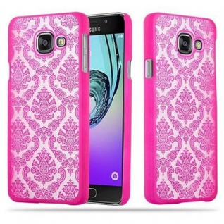 Samsung Galaxy A3 2016 Hardcase Hülle in PINK von Cadorabo - Blumen Paisley Henna Design Schutzhülle ? Handyhülle Bumper Back Case Cover