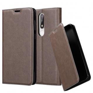 Cadorabo Hülle für Nokia 5.1 PLUS in KAFFEE BRAUN - Handyhülle mit Magnetverschluss, Standfunktion und Kartenfach - Case Cover Schutzhülle Etui Tasche Book Klapp Style