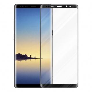 Cadorabo Vollbild Panzer Folie für Samsung Galaxy NOTE 8 - Schutzfolie in TRANSPARENT mit SCHWARZ - Gehärtetes (Tempered) Display-Schutzglas in 9H Härte mit 3D Touch Kompatibilität - Vorschau 2