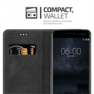 Cadorabo Hülle für Nokia 6 2017 in ROT SCHWARZ ? Handyhülle mit Magnetverschluss, Standfunktion und Kartenfach ? Case Cover Schutzhülle Etui Tasche Book Klapp Style - Vorschau 5
