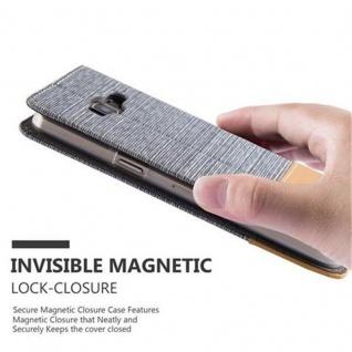 Cadorabo Hülle für Samsung Galaxy A3 2015 in HELL GRAU BRAUN - Handyhülle mit Magnetverschluss, Standfunktion und Kartenfach - Case Cover Schutzhülle Etui Tasche Book Klapp Style - Vorschau 5