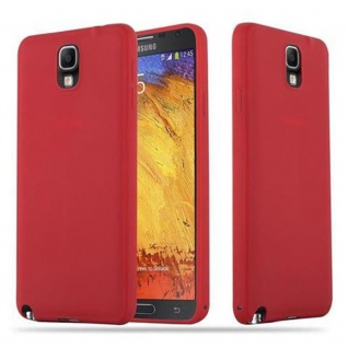 Cadorabo Hülle für Samsung Galaxy NOTE 3 in CANDY ROT - Handyhülle aus flexiblem TPU Silikon - Silikonhülle Schutzhülle Ultra Slim Soft Back Cover Case Bumper