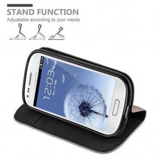 Cadorabo Hülle für Samsung Galaxy S3 MINI in KAFFEE BRAUN - Handyhülle mit Magnetverschluss, Standfunktion und Kartenfach - Case Cover Schutzhülle Etui Tasche Book Klapp Style - Vorschau 4