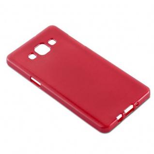 Cadorabo Hülle für Samsung Galaxy A5 2015 in ROT - Handyhülle aus flexiblem TPU Silikon - Silikonhülle Schutzhülle Ultra Slim Soft Back Cover Case Bumper - Vorschau 3