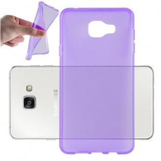 Cadorabo Hülle für Samsung Galaxy A7 2016 in TRANSPARENT LILA - Handyhülle aus flexiblem TPU Silikon - Silikonhülle Schutzhülle Ultra Slim Soft Back Cover Case Bumper