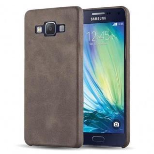 Cadorabo Hülle für Samsung Galaxy A5 2015 (5) - Hülle in VINTAGE BRAUN ? Hardcase Handyhülle aus Kunstleder - Schutzhülle Bumper Back Case Cover