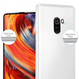 Cadorabo Hülle für Xiaomi Mi Mix 2 in METALLIC SILBER - Handyhülle aus flexiblem TPU Silikon - Silikonhülle Schutzhülle Ultra Slim Soft Back Cover Case Bumper - Vorschau 4