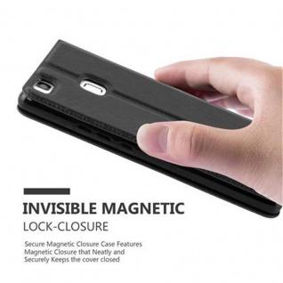 Cadorabo Hülle für Huawei P9 LITE in KOMETEN SCHWARZ ? Handyhülle mit Magnetverschluss, Standfunktion und 2 Sichtfenstern ? Case Cover Schutzhülle Etui Tasche Book Klapp Style - Vorschau 4
