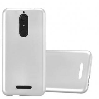 Cadorabo Hülle für WIKO VIEW in METALLIC SILBER - Handyhülle aus flexiblem TPU Silikon - Silikonhülle Schutzhülle Ultra Slim Soft Back Cover Case Bumper