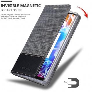 Cadorabo Hülle für Huawei MATE 20 LITE in GRAU SCHWARZ - Handyhülle mit Magnetverschluss, Standfunktion und Kartenfach - Case Cover Schutzhülle Etui Tasche Book Klapp Style - Vorschau 3